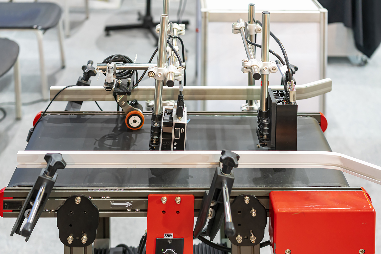 Image of a sensor being built in the process