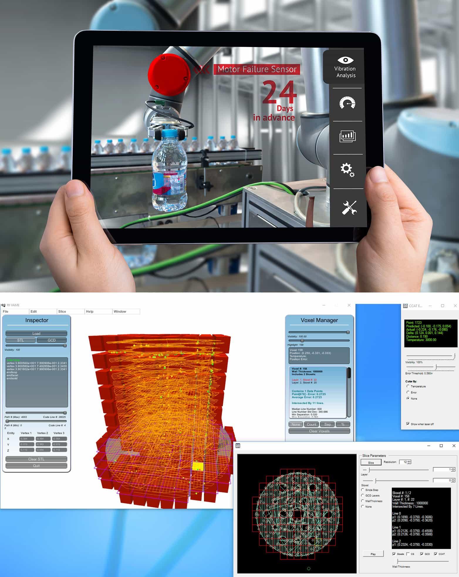 An image of an iPad mockup where the iPad is displaying a DADTMA experimentation