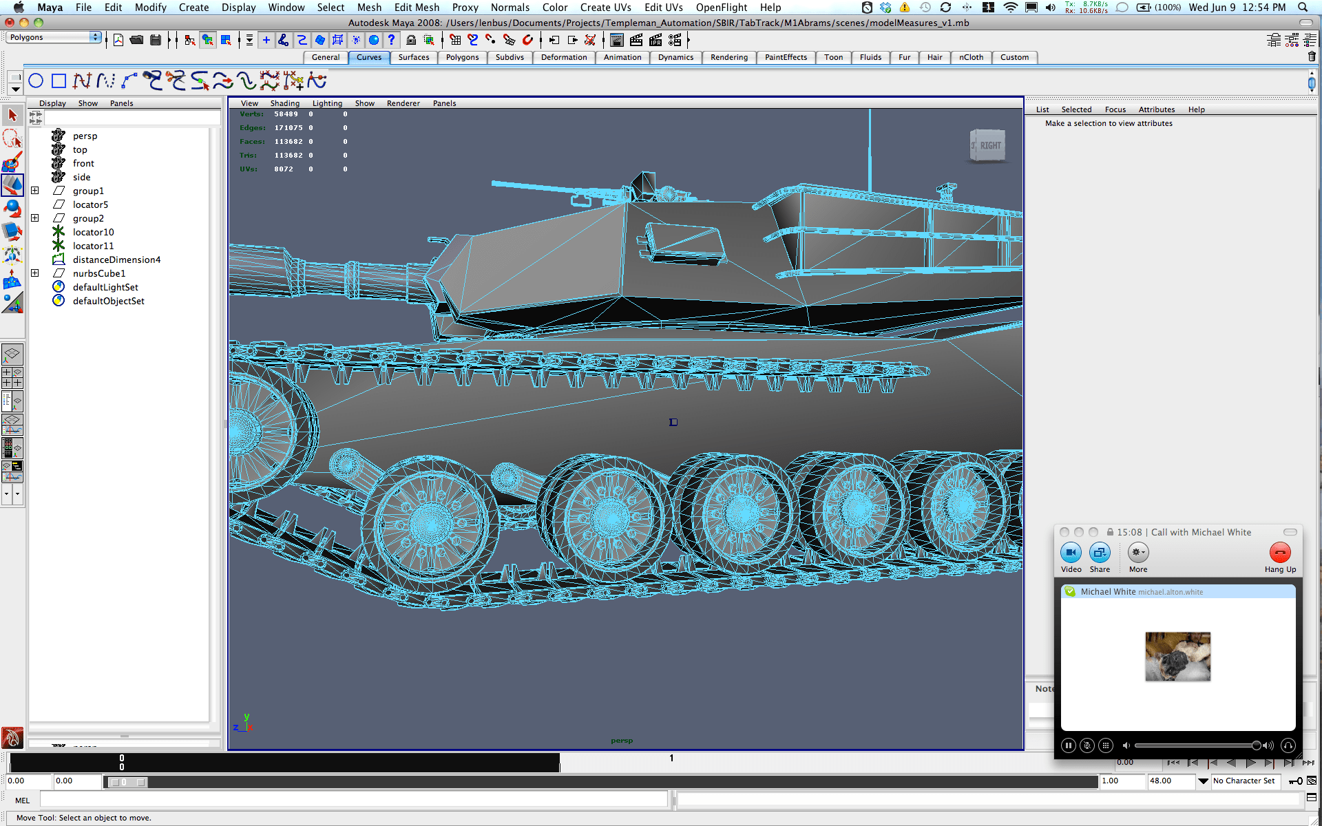 Render of an army tank and how it performs, has teal lines, outlining its curvature.